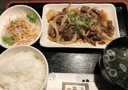 牛カルビ焼き定食