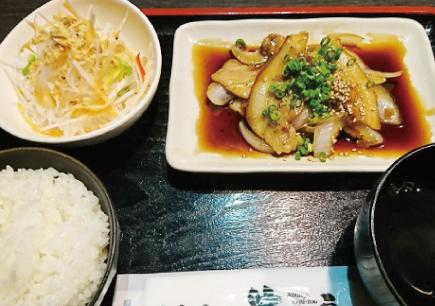 豚カルビ焼き定食
